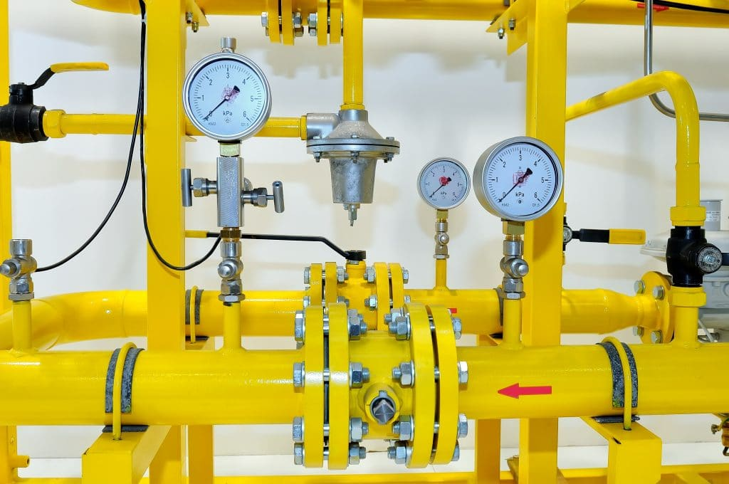 natural gas installation